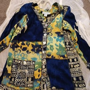Mirror Image Rayon Button front Tunic Top